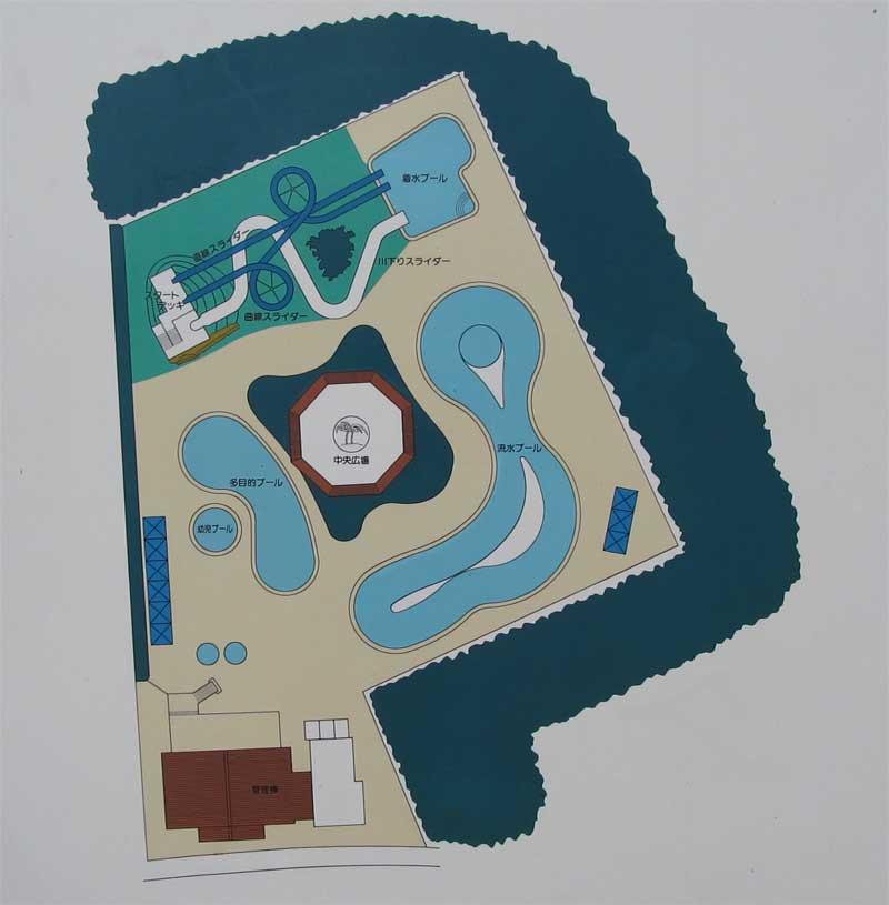 プールの配置図